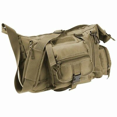15  Olive Drab Green Messenger Bag Laptop Carry Case Shoulder Tactical Briefcase