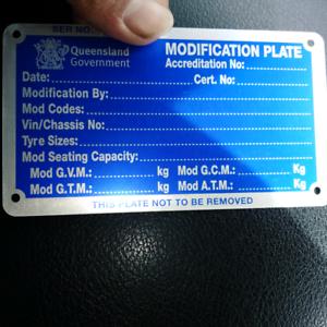 Cairns Mod Plates amd RWC