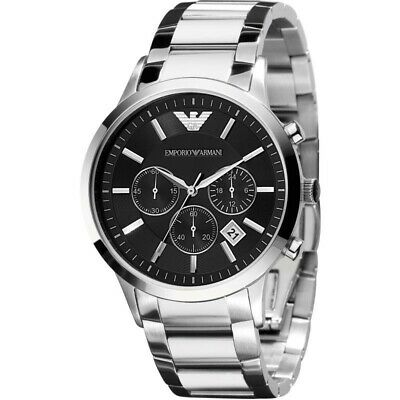 New In Box Emporio Armani AR2434 Classic Men's Dial Steel Chronograph Watch