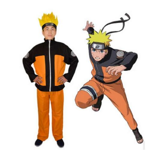 Anime Naruto Uzumaki Naruto Cosplay Costume Comic Con Men Outfits Halloween Suit