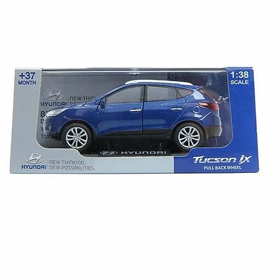 PINO B&D HYUNDAI TUCSON IX 1:38 Diecast Miniature Display Front Door Ash Blue