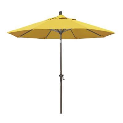 9Ft. Aluminum Market Umbrella Auto Tilt Champagne-Olefin-Lemon