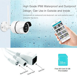 Night Vision Outdoor Wireless IP Security Bullet Camera