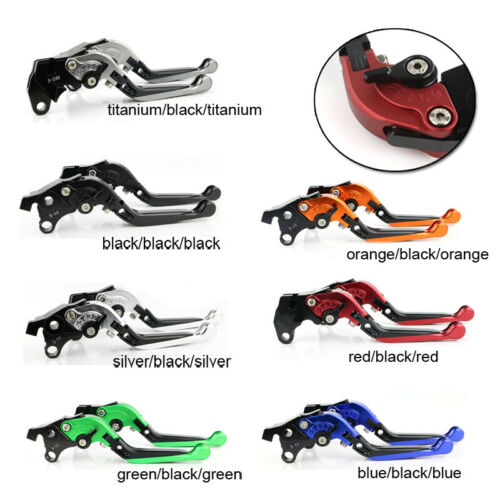 2016-2017 Motorcycle Brake Clutch Lever Extendable Adjustable Folding for KAWASAKI ZX10R with Logo