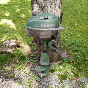 old vintage antique Johnson outboard motor $150