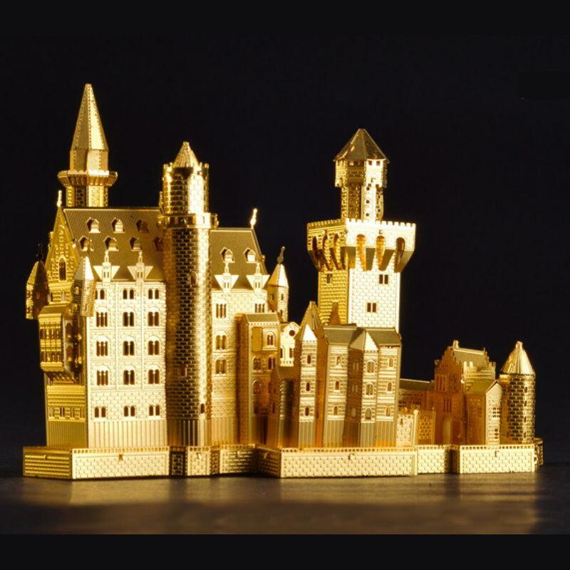 PIECECOOL Build Metal 3D Models Metallic Puzzle - Neuschwanstein Castle / Golden