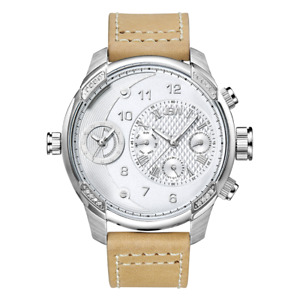 NEW JBW J6325D G3 With 16 Real Diamonds Dual Time Zone Watch