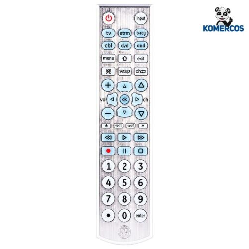 GE 6 Device Universal Remote, Backlit, Big Button, Works wit
