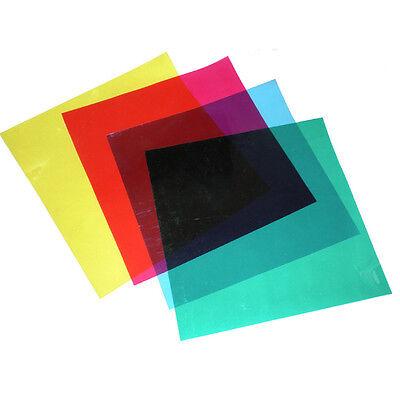 "Photography Studio Flash Speedlite Strobe Lighting 12"" 4 Colors Set Gels Filter"