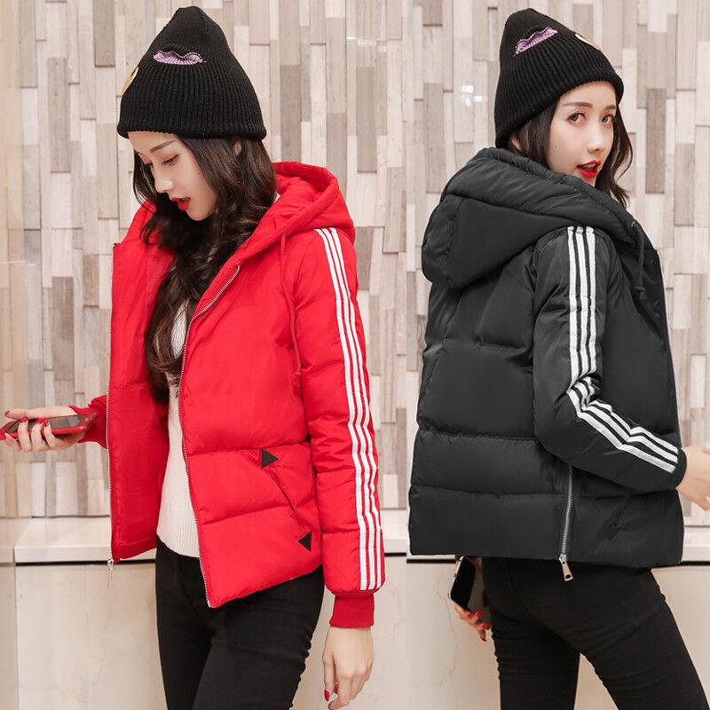 2018 Womens Coat Ladies Jacket Down Padded Collar Winter Warm Hooded Outwear