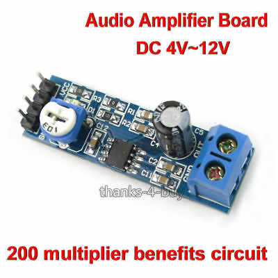 LM386 DC 5V-12V Mini Micro Audio Amplifier Module Board Mono AMP Module HIFI DIY