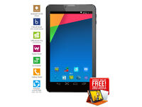 """7"""" 3G Phablet Android Unlocked DualSim,2G 3G,Bluetooth,WIFI,GPS,1024X600 + FeeLeatherCase"""