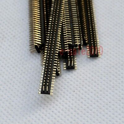10pcs Rohs 2x50 1.27mm Pin Header Double Row Smtsmd Male For Dip Pcb Board G27