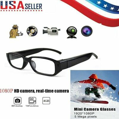 HD 1080P Mini Spy Camera Glasses Hidden Eyewear DVR Video Recorder Cam Camcorder