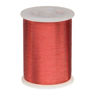 40 Awg Gauge Heavy Copper Magnet Wire 1.0 Lb 31940 Length 0.0038 155c Red