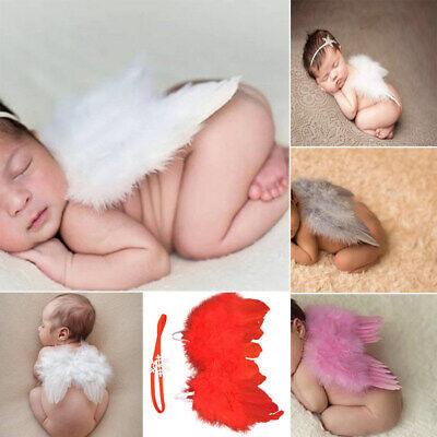 Neugeborenes Baby Mädchen Junge Engel Flügel Kostüm Foto Fotografie Pr JJV