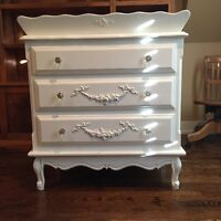 Beautifully Crafted Dresser with Removable Changing Tray