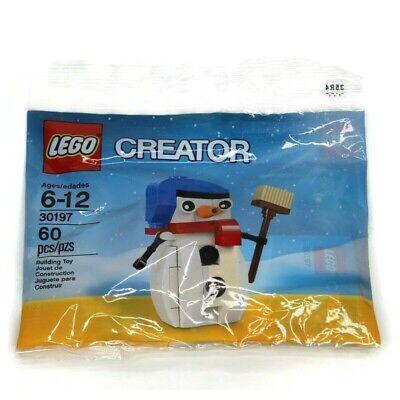 Lego Creator 30197 Snowman Polybag Christmas Holiday Seasonal 60 Pcs