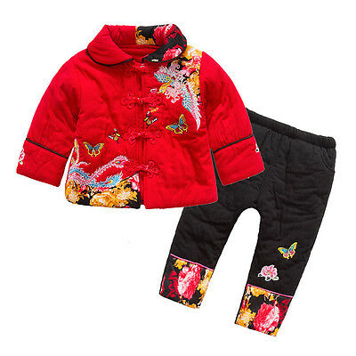 Chinese New Year Tradition Costume Girl 2PC Outfit Set Party Suit Size1-4 Years.](Chinese Girl Outfit)