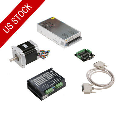 Us Free Ship 1axis Nema34 Stepper Motor 1700oz-in 151mm 6a 4wires 860a 350w Kit