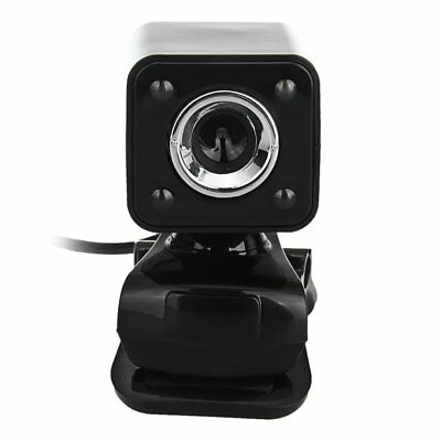 480P 800W 4 LED HD Webcam Camera + USB 2.0 Microphone for Computer PC H8I8
