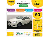 WHITE MERCEDES-BENZ A180 1.5 CDI SPORT AMG LINE A200 A220 1.8 FROM £62 PER WEEK