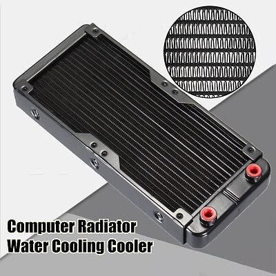 240mm Aluminum Computer Radiator Water Cooling Cooler kits CPU LED Heatsink US