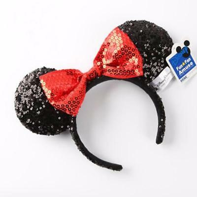 Minnie Mouse Bow Sequins Ear Halloween Headband Christmas Costume Party - Christmas Minnie Mouse Costume