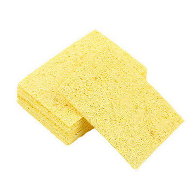 10pcs Soldering Iron Solder Tip Welding Cleaning Sponge 5cm3.5cm1mm Su
