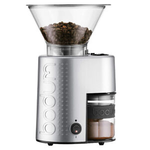 Bodum 10903-70US-1 Electric Burr Coffee Grinder, Chrome