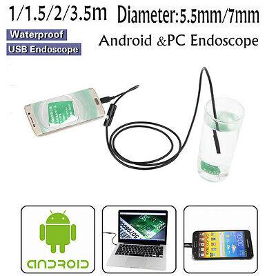 Waterproof 5.5mm7mm 6led Usb Endoscope Borescope Snake Inspection Camera Scope