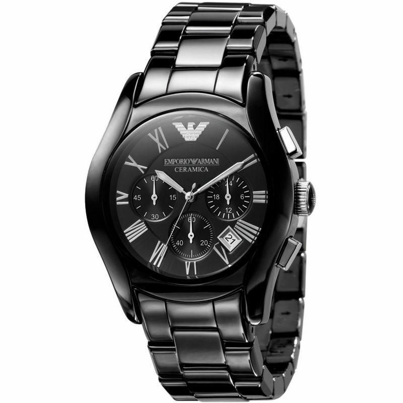 abholen Online kaufen neues Konzept Emporio Armani Men's AR1400 Ceramic Black Chronograph Dial Watch