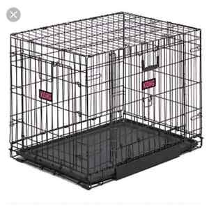Dog crate and bed