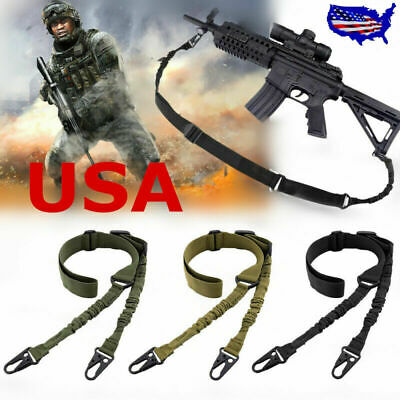 USA 2 Point Gun Sling Shoulder Strap Outdoor Rifle Sling With Metal Buckle AR01