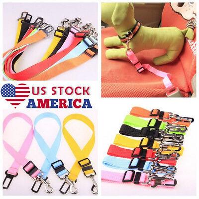 Hot US Fashion Pet Puppy Dog Cat Adjustable Lead Car Seat Belt Harness Restraint Fashion Pet Leads