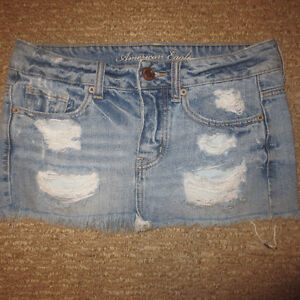 AE JEAN SKIRT SIZE 0