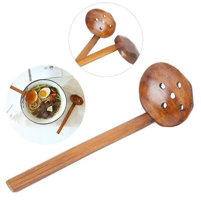 Wood Ladle Serve Pierced Table Spoon Hot Pot Spoons Slotted