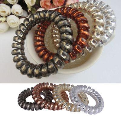 F789 12PCS Rubber Telephone Wire Hair Ties Spiral Slinky Hair Head Elastic Bands - Slinky Hair Ties
