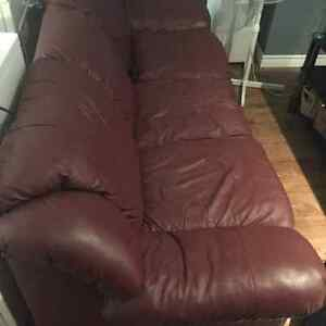 Used Red Leather Couch