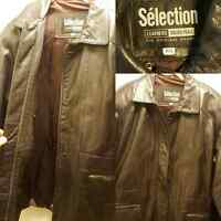 Leather jacket for men size s