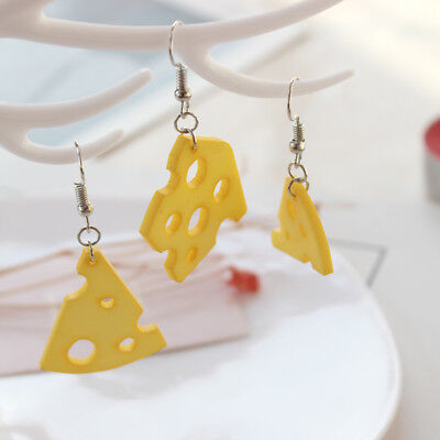 Newest 1Pair Lady Fashion Cheese Cute Earrings Funny Pendant Jewelry Accessories](Cute Couple Accessories)