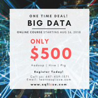Big Data Course! Intstructor-Led Online Training! Call Today