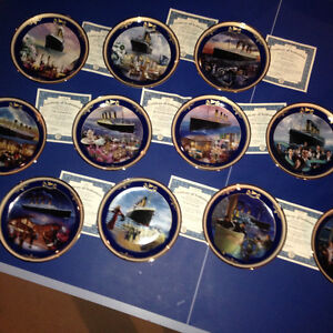 The Titanic Limited Edition Plates by Bradford