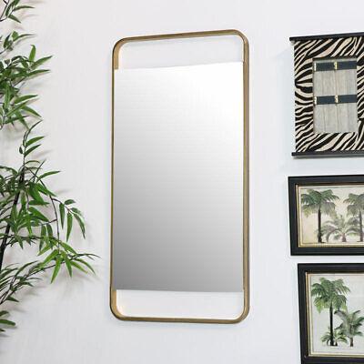 Bronze Wand Spiegel Metall Rahmen Retro Kunst Deko Wohnzimmer Flur Modern Dekor