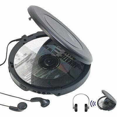 CD Spieler: Tragbarer CD-Player mit Ohrhörern, Bluetooth und
