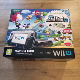 Nintendo Wii U Console + 8 Games