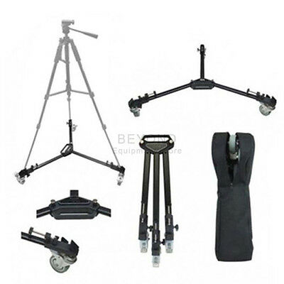 Professional Camera Tripod Dolly Folding Heavy Duty Wheels Caster Case WT600
