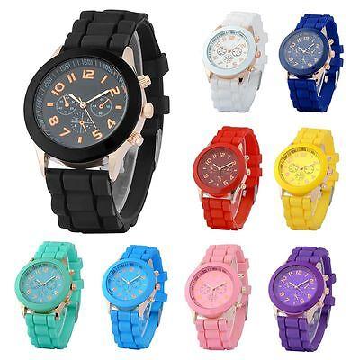 Изображение товара Colorful Unisex Men Women Silicone Jelly Quartz Analog Sports Wrist Watch New