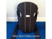 Baby Bjorn baby carrier, black