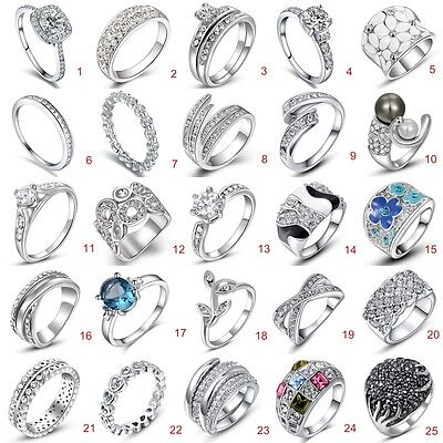 Ring - Fashion Women 925 Sterling Silver Jewelry Filled Wedding Engagement Wedding Ring